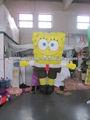 los niños del partido de la decoración inflable traje de bob esponja