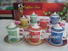 6 pcs melamine cup set