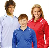 custom raglan long sleeve polyester mesh polo shirt