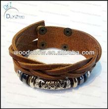 rock and roll leather bracelet personalized leather bracelets