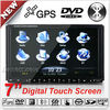 7 inch 2 din Touch screen GPS headunit With steering wheel control function