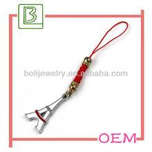 Eiffel Tower Mobile Phone Chain Charm Ornament