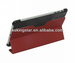 PU leather smart cover stand case for ipad mini