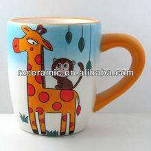 Handmade Plain Ceramic Giraffe Mug