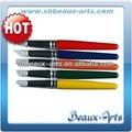 Gris firme punta de silicona de silicona cepillo de aceite de color shaper con corto, de color mango de madera