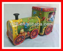 Sugar packaging train head shaped tin can/train tin box/train metal box