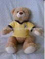 ตุ๊กตาหมีตุ๊กตาหมีสีเหลืองกีฬา