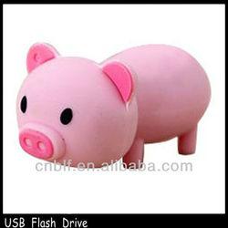 soft PVC cartoon pig usb pen drive