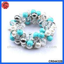 2013 newest design pearl&glass beads material,fashion kids charm bracelets