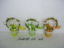 Easter basket flower decoration