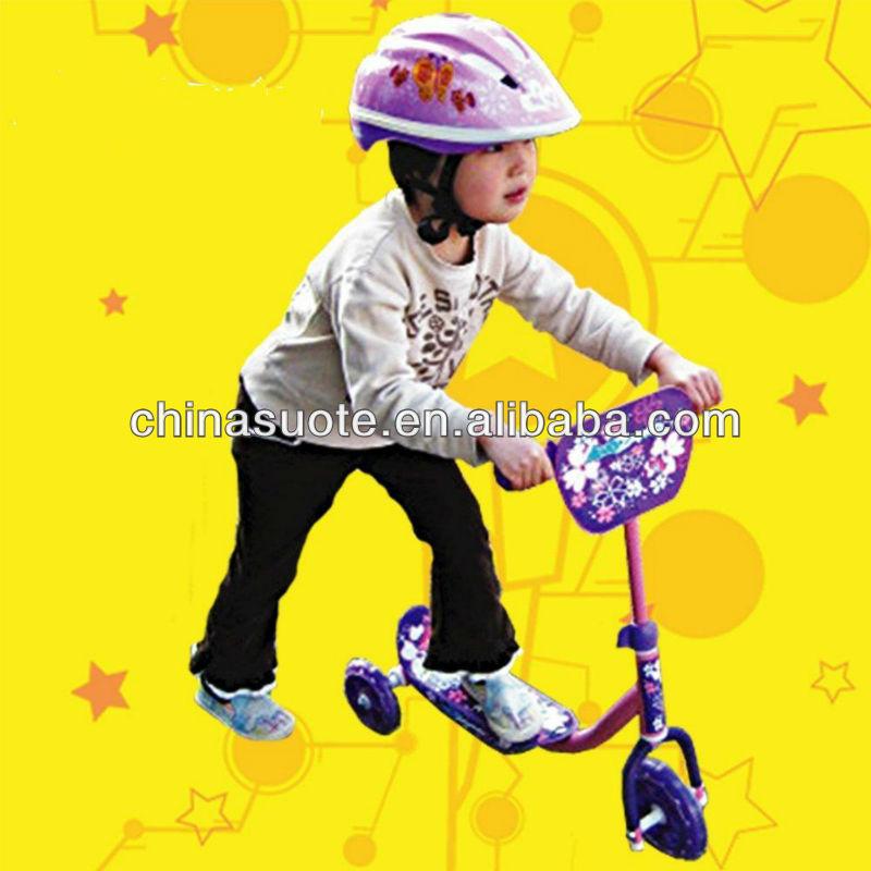 kids 3 big wheels mini scooter for children