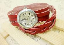 New braid leather strap watch,fashion wrist watch