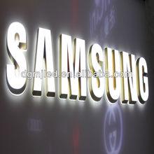 LED frontlit letter logo for samsung shop using