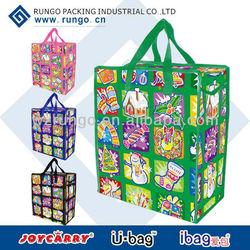 Cheap CMYK printing promotional reusable shopping bag