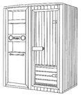 Portable sauna steam room, sauna tent with radio cd player