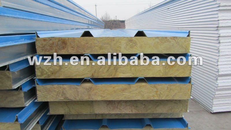 Fire proof Rockwool Sandwich Panel for prefabricated houses