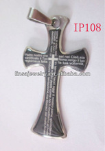 Cheap Wholesale Mens Christian With Bible Stainless Steel Pendants