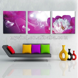 print oil painting in modern home