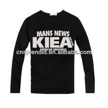 fashion black latest special printed o-neck cotton plain tshirt