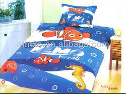 100% cotton hot sale cotton kids cartoon bed sheetset cartoon designs cheap price childrens' bedding set