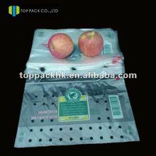 mesh PE bag apple bags baggies with ziplock sealed fruit packaging pouch