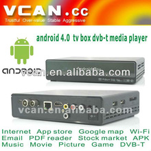 VCAN HDMI Car Android DVB-T mpeg-4 media player dvb-t tv receiver box supplier