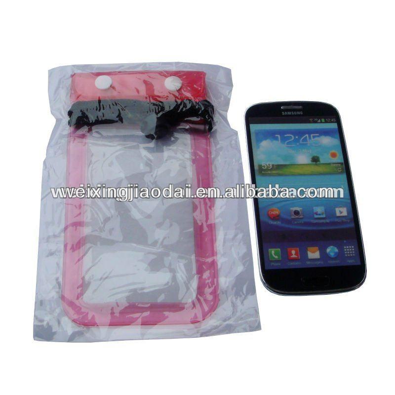 PVC waterproof Moblie phone bag for galaxy s3