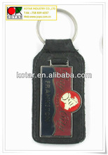 custom made leather keychains,leather key fob,leather keychain with metal logo
