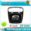 8 pollici auto dvd gps per la fiat freemont grossista con gps navigazione/dvd/mp3/mp4/usb/sd/pip/wince 5.0... Vendita calda!