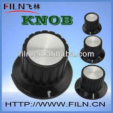 black internal diameter 4mm aluminium round cabinet knob