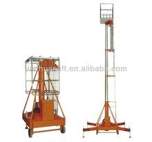 hydraulic single ladder anti-rotating telescopic cylinder lift tables