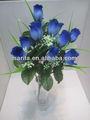 12 cabeças artificial azul escuro científica nomes de flor do botão de rosa