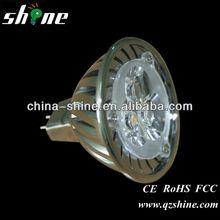 High quality 3W 3 LEDs MR16 Cool White Warm White Light Bulb Lamp DC 12V 270lm Epistar Low heat MR16 led spotlight