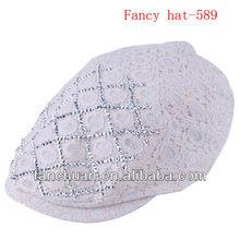 fashion ladies white lace hat