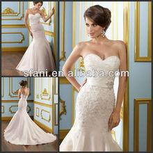 WDT-773 Newest Hotsale Pink Sweetheart Beads Applique Taffeta Wedding Dresses 2012
