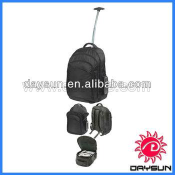 Waterproof laptop backpack with trolley