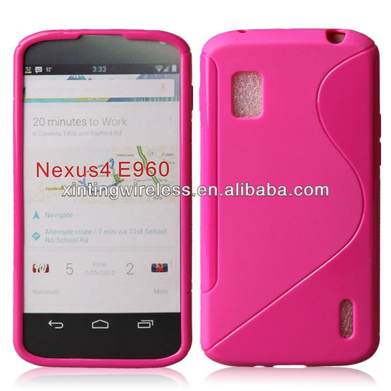 S line soft tpu skin case for LG Nexus4 (E960)