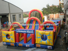 inflatable giant obstacle,inflatable jumping bounce with long slide