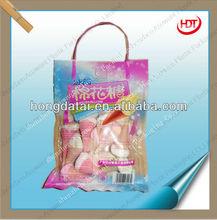 high quality transparent plastic bag with handle for sugar