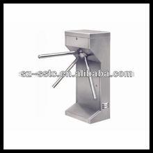 Finger print accesing system vertical tripod turnstile China / Security commercial turnstile gate