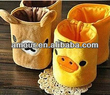 cute Rilakkuma pencil box foldable yellow chicken pencil holder toy creative cartoon office stationery toys for sale