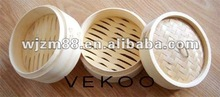 bamboo three layer steamer pots