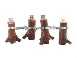 Dec.2012 top selling special design branch wooden usb stick no minimum