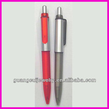 fashion red ink clip print logo liquid fat pens with custom design