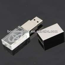 Crystal with Metal USB Flash Drive With Your Logo in
