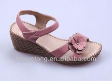 lady latest italian design PU sole wedges flat sandals shoes 2012