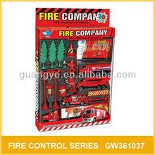 Toy Metal Fire Trucks 15 Pcs Plastic And Alloy GW361037