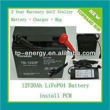 TOPBAND!!! golf trolley 12v 20ah lifepo4 pack