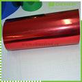 الهواء متر 1.52*30 فقاعة مجانا ، تستخدم سيارة التفاف الفينيل الفيلم مرآة الكروم الحمراء