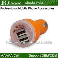New Dual Port USB Car Charger 2A